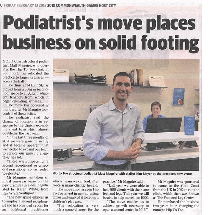Podiatrist Hip to Toe Move on the Gold Coast